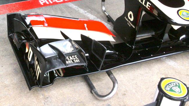 La Lotus mostra la settima modifica dell'ala davanti