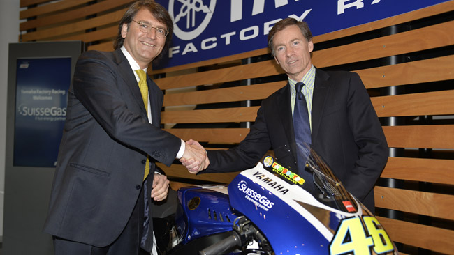SuisseGas nuovo sponsor della Yamaha