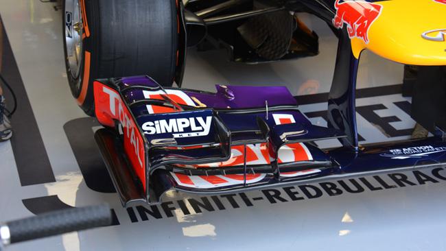 La Red Bull scarica le ali ma tiene gli upper flap