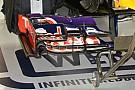 La Red Bull con più upper flap sull'anteriore