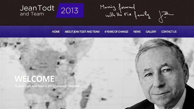 Todt: un sito per la ricandidatura a Presidente FIA