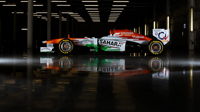 Force India nel 2014 con i cerchi Motegi Racing
