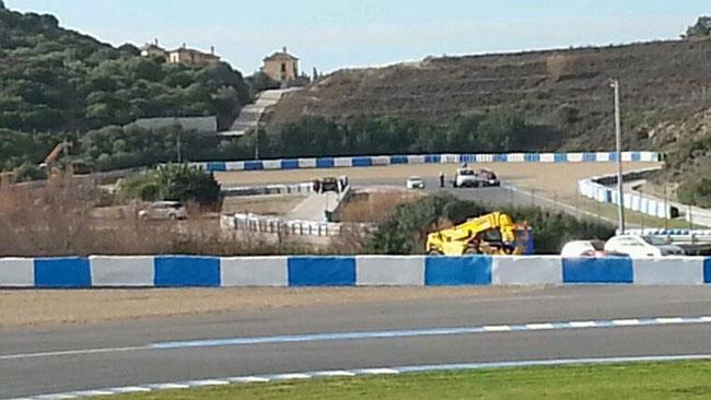 Test Jerez: si ferma in pista anche la Force India