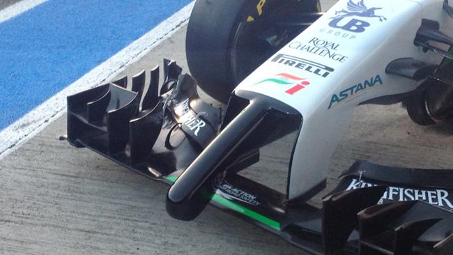 Force India VJM07 con un naso... imbarazzante!