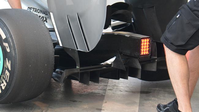 Mercedes: più carico dal diffusore posteriore