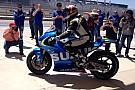 Schwantz si diverte sulla Suzuki MotoGp ad Austin