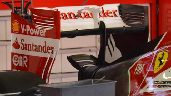 Ferrari: c'è il mono pilone dell'ala posteriore