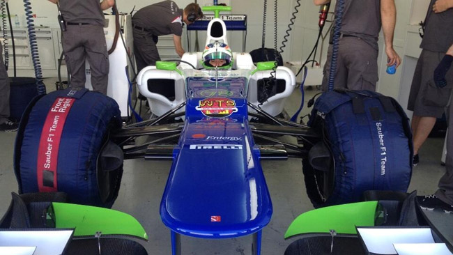 La De Silvestro in pista a Valencia con la Sauber C31