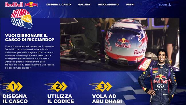 Red Bull Helmet Art: disegna il casco di Ricciardo!