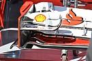 Ferrari: cambiano le soffiature sull'ala davanti
