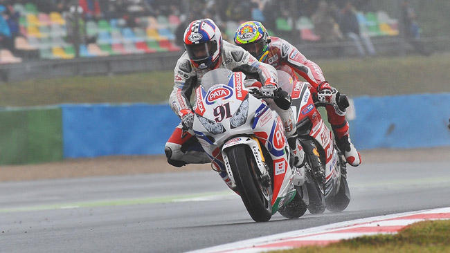 Haslam si gode il suo primo podio con la Honda