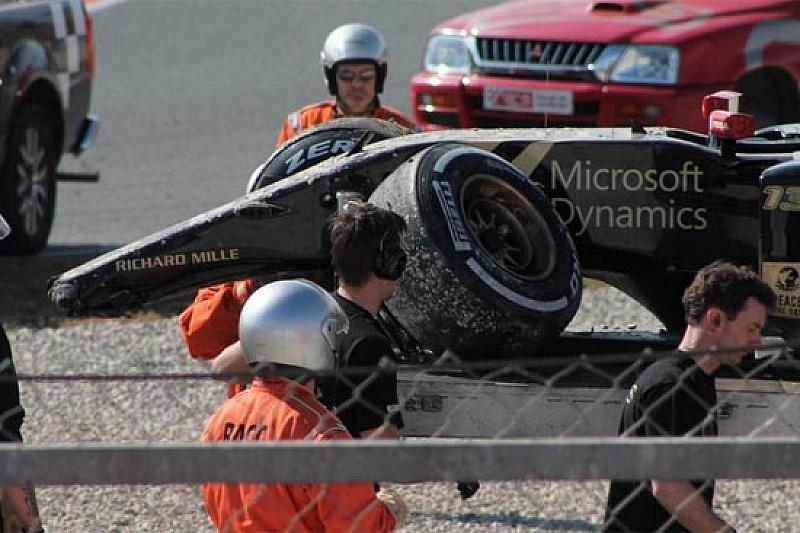 Un problema ai freni ha causato il crash di Maldonado