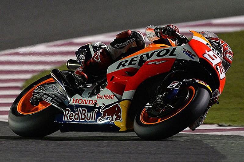 Losail, Libere 1: Marquez nella doppietta Honda