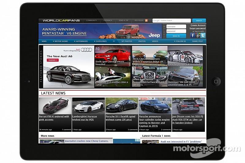 """Motorsport LLC intègre le site WorldCarFans à son panel de sites """"automobile"""""""