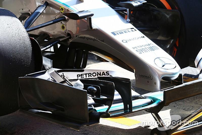 La FIA renforce le contrôle des ailerons avant