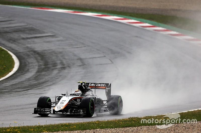 Sergio Pérez va por la Q3 a pesar de la lluivia