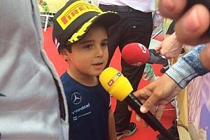 Fórmula 1 Últimas notícias Massa é pódio, mas quem rouba cena é seu filho Felipinho