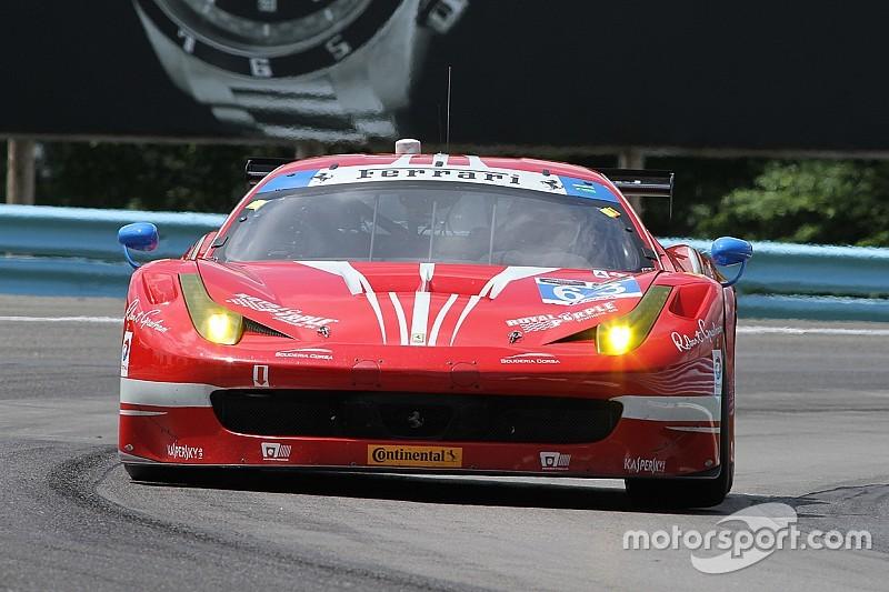 Ferraris splash through challenging conditions in Watkins Glen