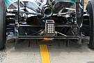 Mercedes: due estensimetri per il diffusore posteriore