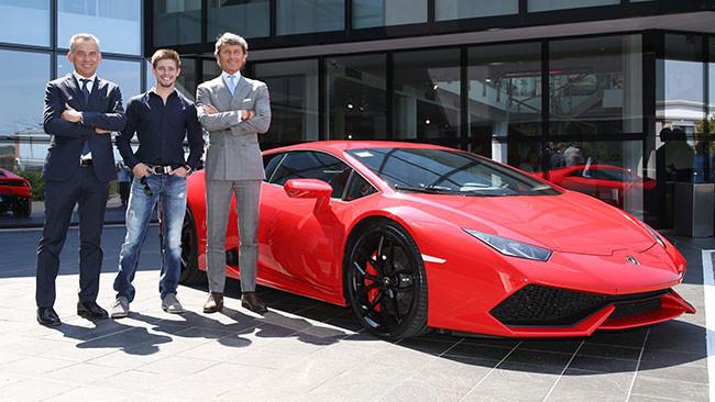 Casey Stoner visita la Lamborghini a Sant'Agata