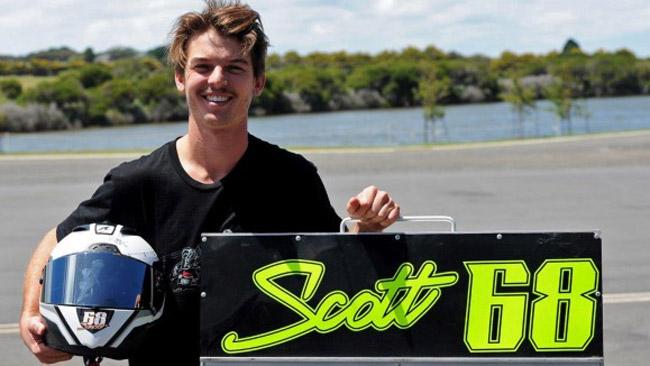 L'australiano Glenn Scott su una Honda a tempo pieno