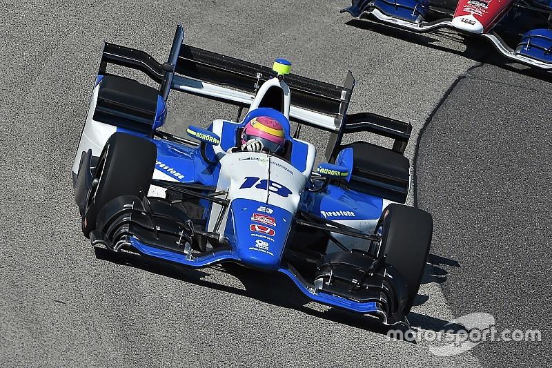 Pippa Mann en Pocono con el equipo Dale Coyne Racing