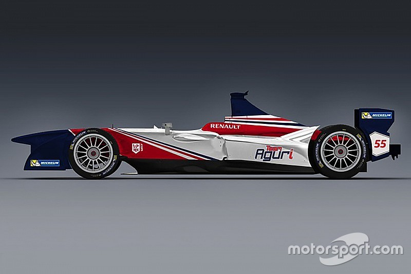 حصريًّا: الألوان الجديدة لسيارة فريق أغوري للموسم الثاني من الفورمولا إي