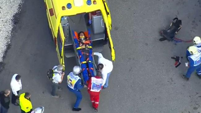 Sainz jr portato in ospedale dopo il terribile botto