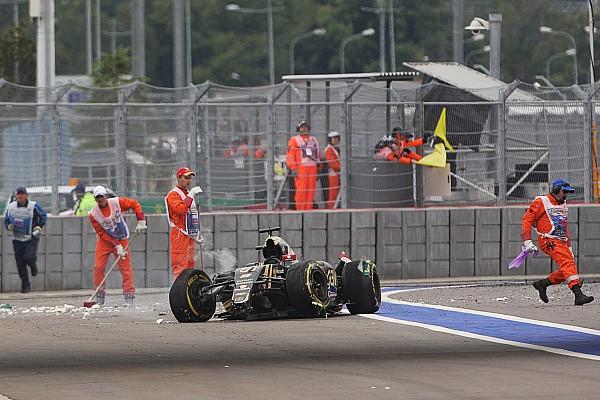 Lotus: Авария Грожана не была следствием поломки машины