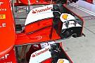 Ferrari: tutta nuova l'ala anteriore della SF15-T