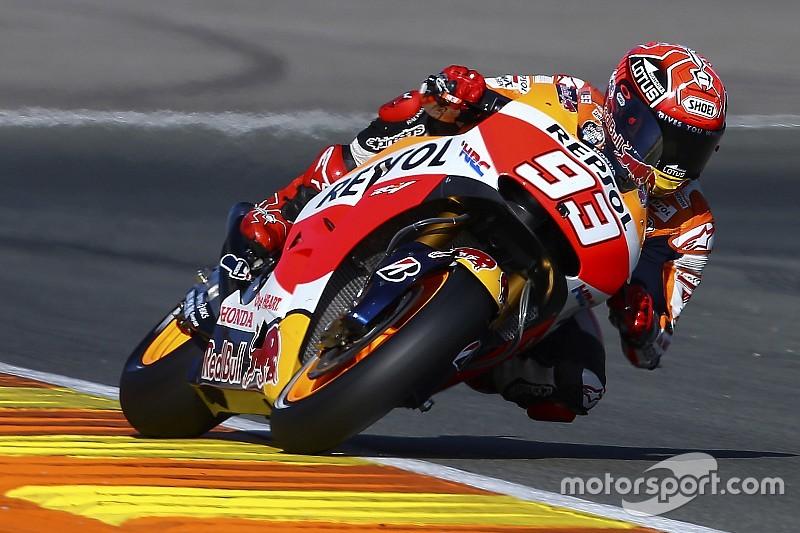 Em dia cheio de quedas, Marquez lidera primeira sessão com Michelin