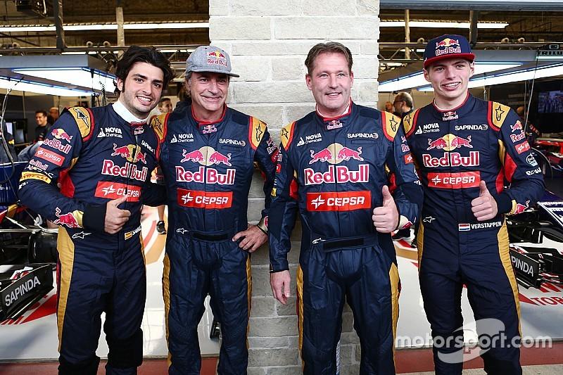 Jos Verstappen y Carlos Sainz celebran la madurez de sus hijos