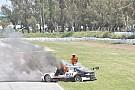 Argentina-TC VÍDEO: Carro pega fogo em prova na Argentina