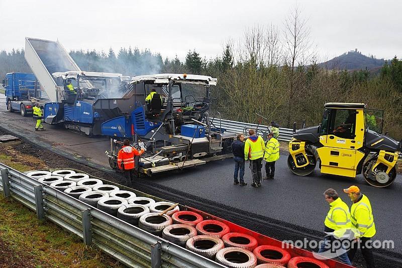 Nürburgring-Nordschleife: Asphaltarbeiten sind abgeschlossen