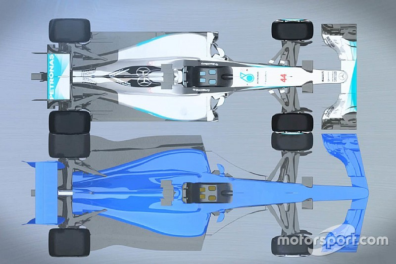 Video: F1's 2017 en huidige bolides vergeleken