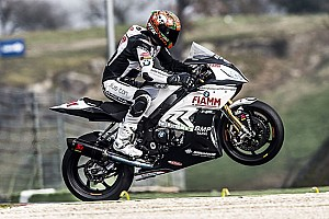 WSBK Test Althea BMW ha provato la forcella 2016 a Vallelunga