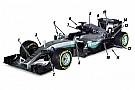 Análisis técnico: Los 15 cambios clave en el Mercedes W07