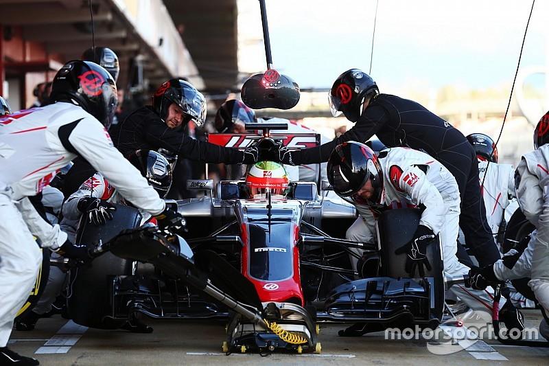 """Steiner, feliz con el """"mejor día"""" de pruebas para Haas"""