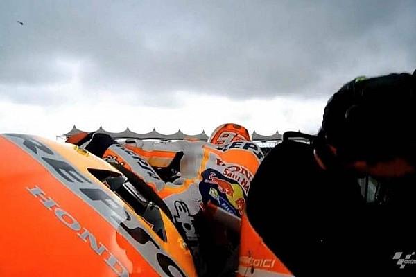 Márquez 'probó' los alerones de la Ducati
