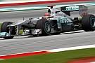 Mercedes ikilisi antrenmanlarda parladı