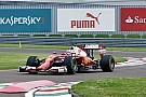Leclerc probó por primera vez un F1 al volante de un Ferrari