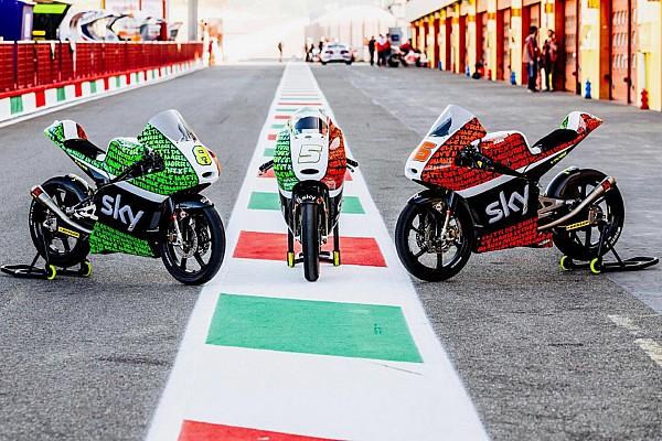 C'è il tricolore sulle KTM dello Sky Racing Team VR46 al Mugello