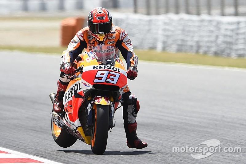 MotoGP Barcelona: Marquez snelste in laatste training, Lorenzo in de problemen