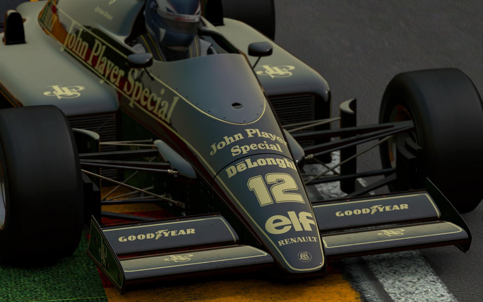 Project CARS: A legendás Lotus 98T Renault Turbo Spa-ban