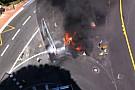 Hatalmas lángok és füst a monacói F1-es pályán: furcsa látvány