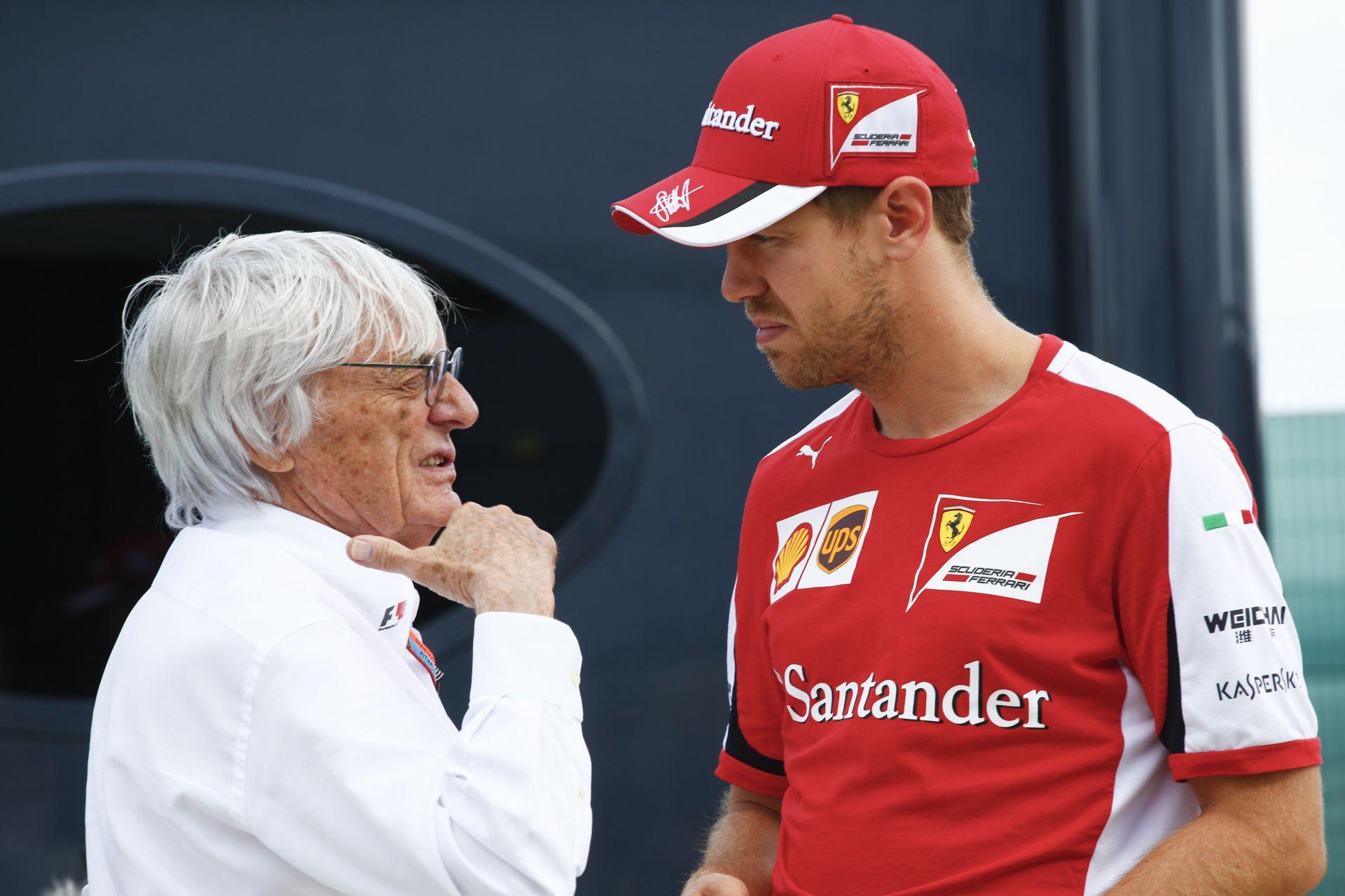 Vettel szerint nem kell Ecclestone-t mindig olyan komolyan venni!