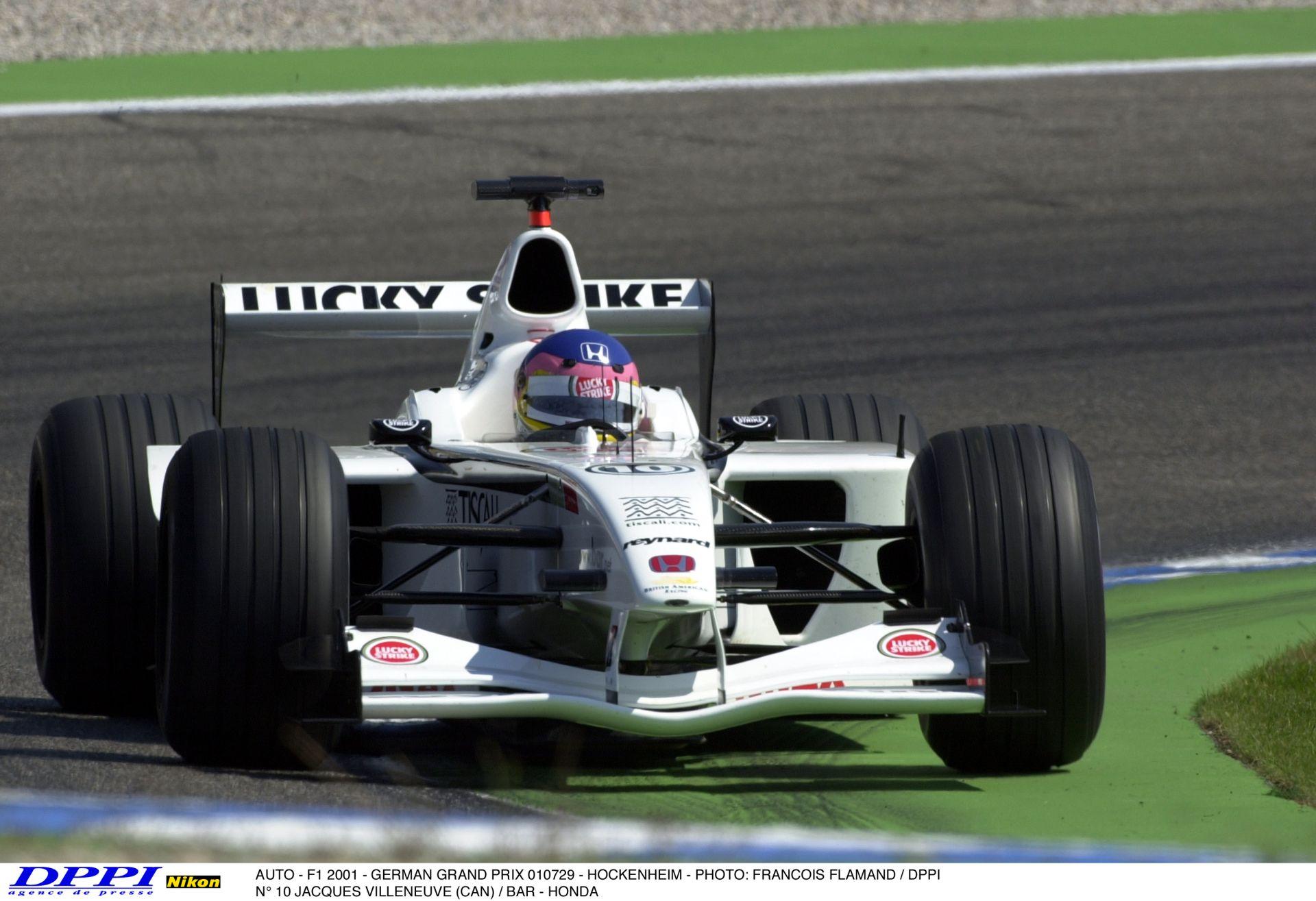 7 perc igazi Forma-1: BAR-Honda a Jordan-Honda ellen Hockenheimben