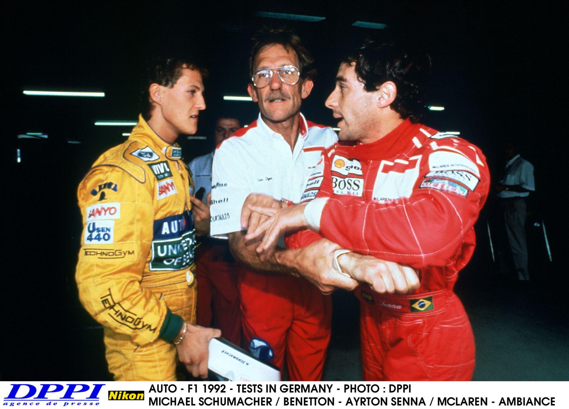 Senna és Schumacher csatája az 1992-es Brazil Nagydíjról