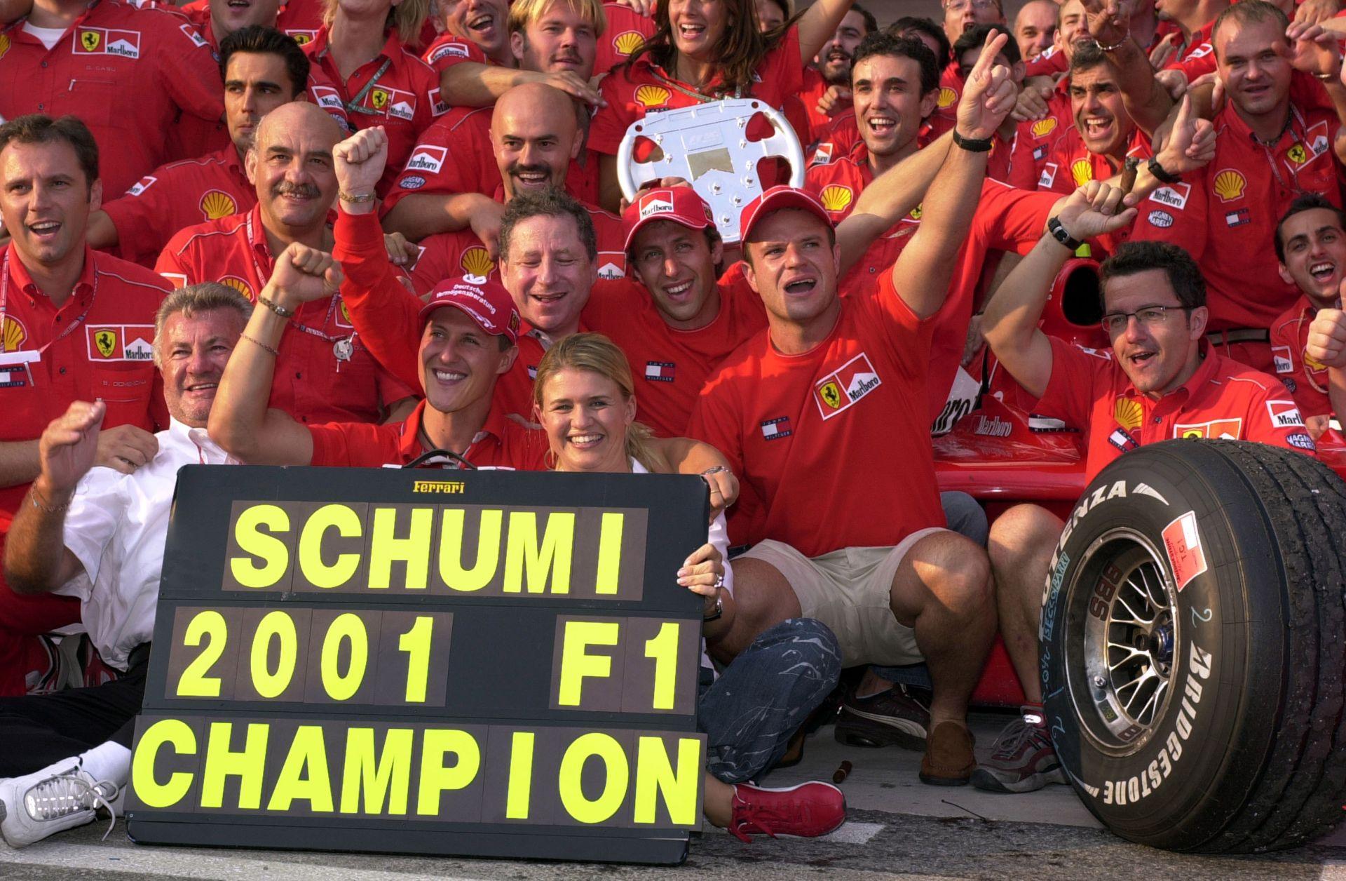 Schumacher 2001-ben éppen ezen a napon nyerte meg a negyedik bajnoki címét a Hungaroringen