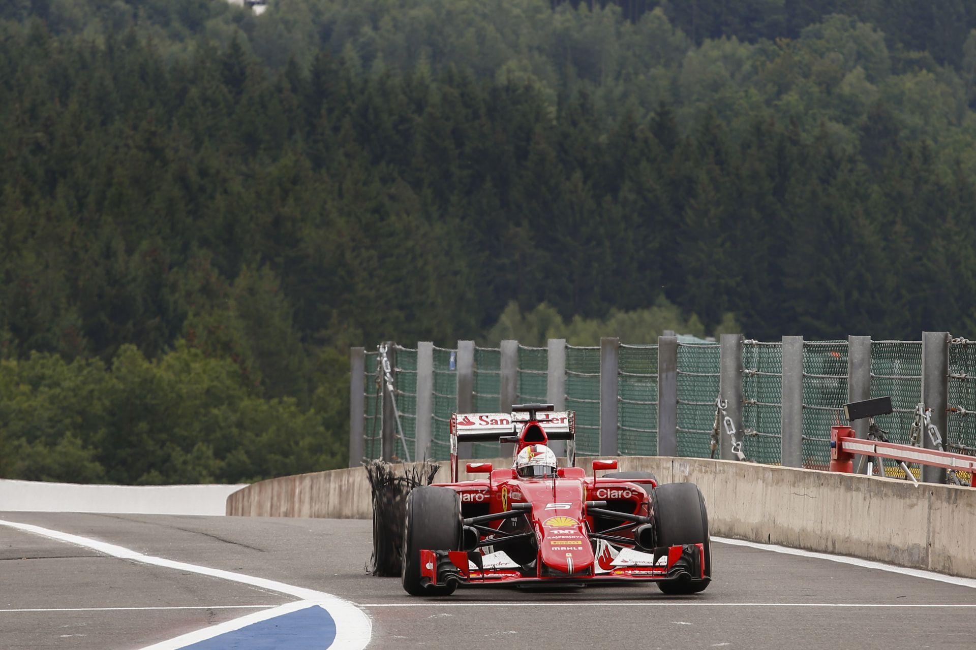 A Ferrari nem olyan hülye, hogy kockáztassa Vettel testi épségét!